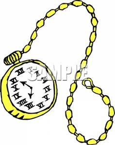 237x300 A Golden Pocket Watch Clipart Picture