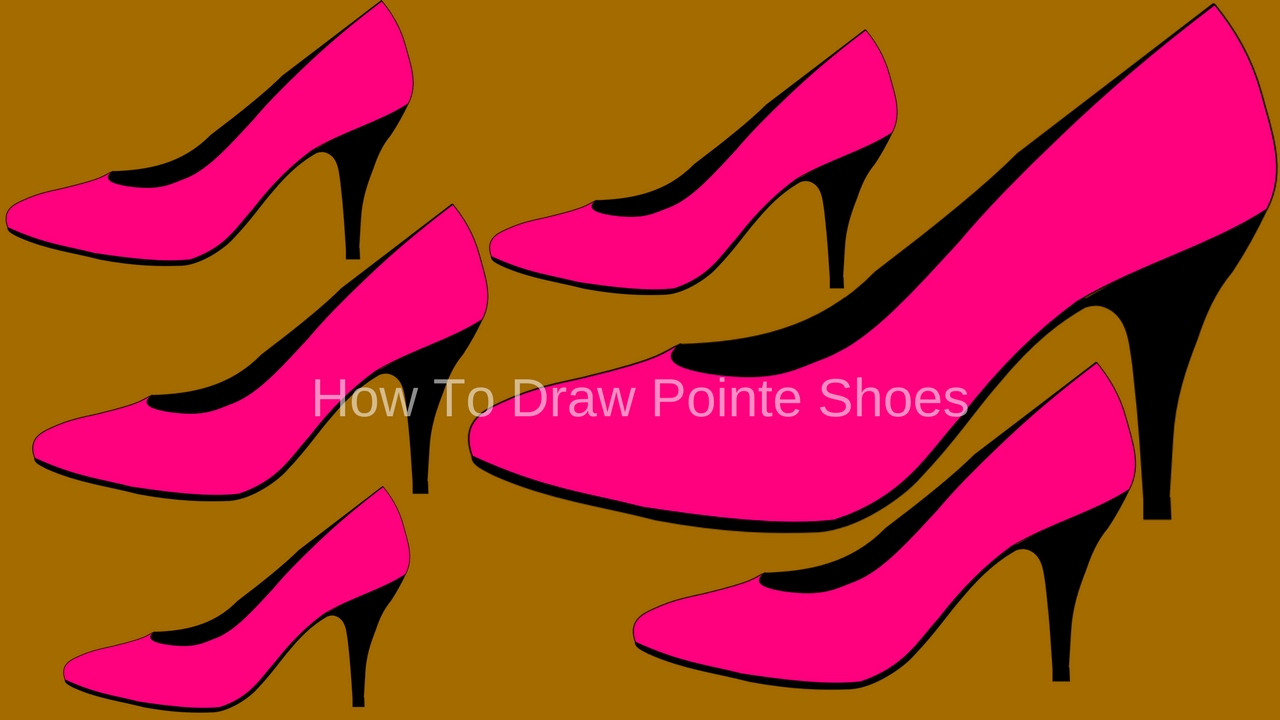 1280x720 How To Draw Pointe Shoes Easy Ballerina Shoes Free Download Clip