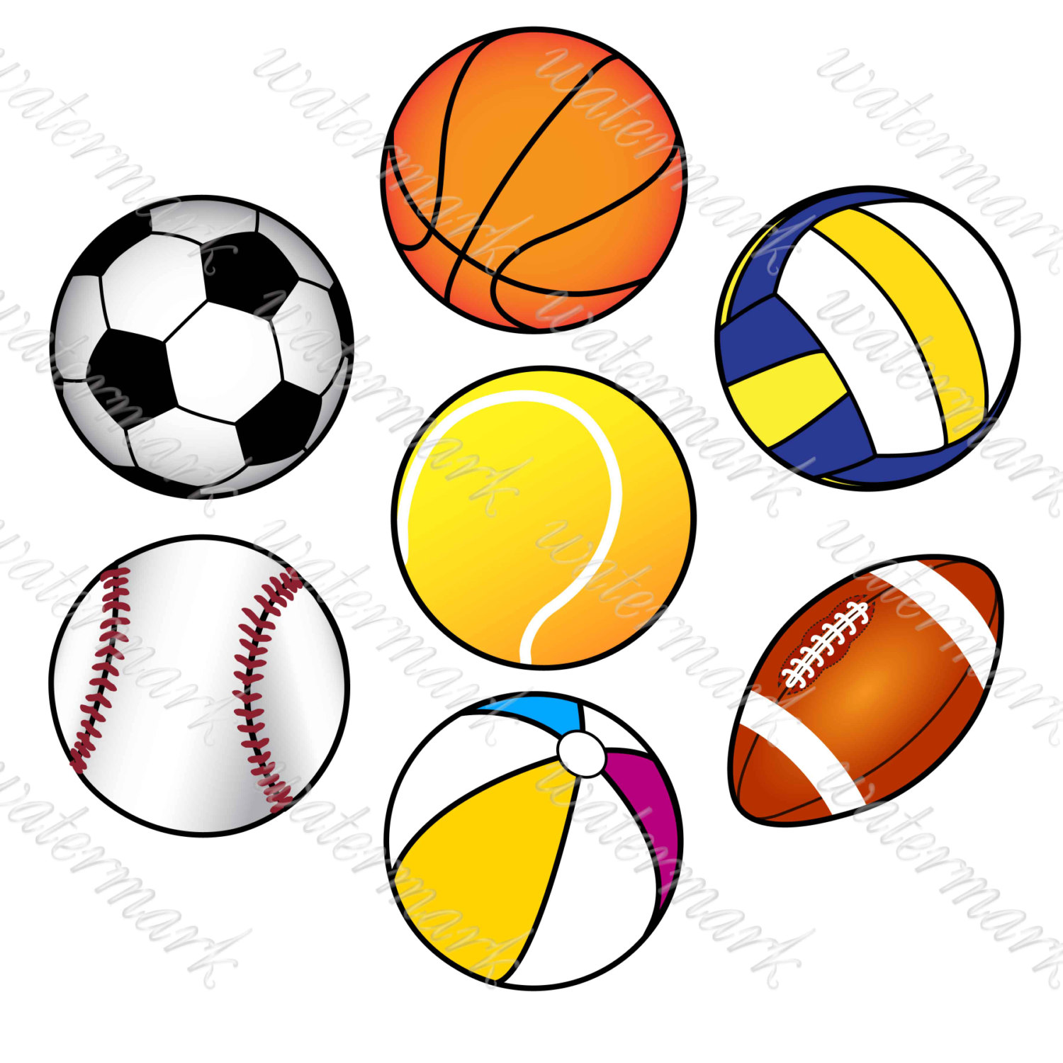 1500x1500 Collection Of Sports Balls Clipart High Quality, Free
