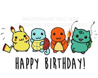 340x270 Pokemon Birthday Card