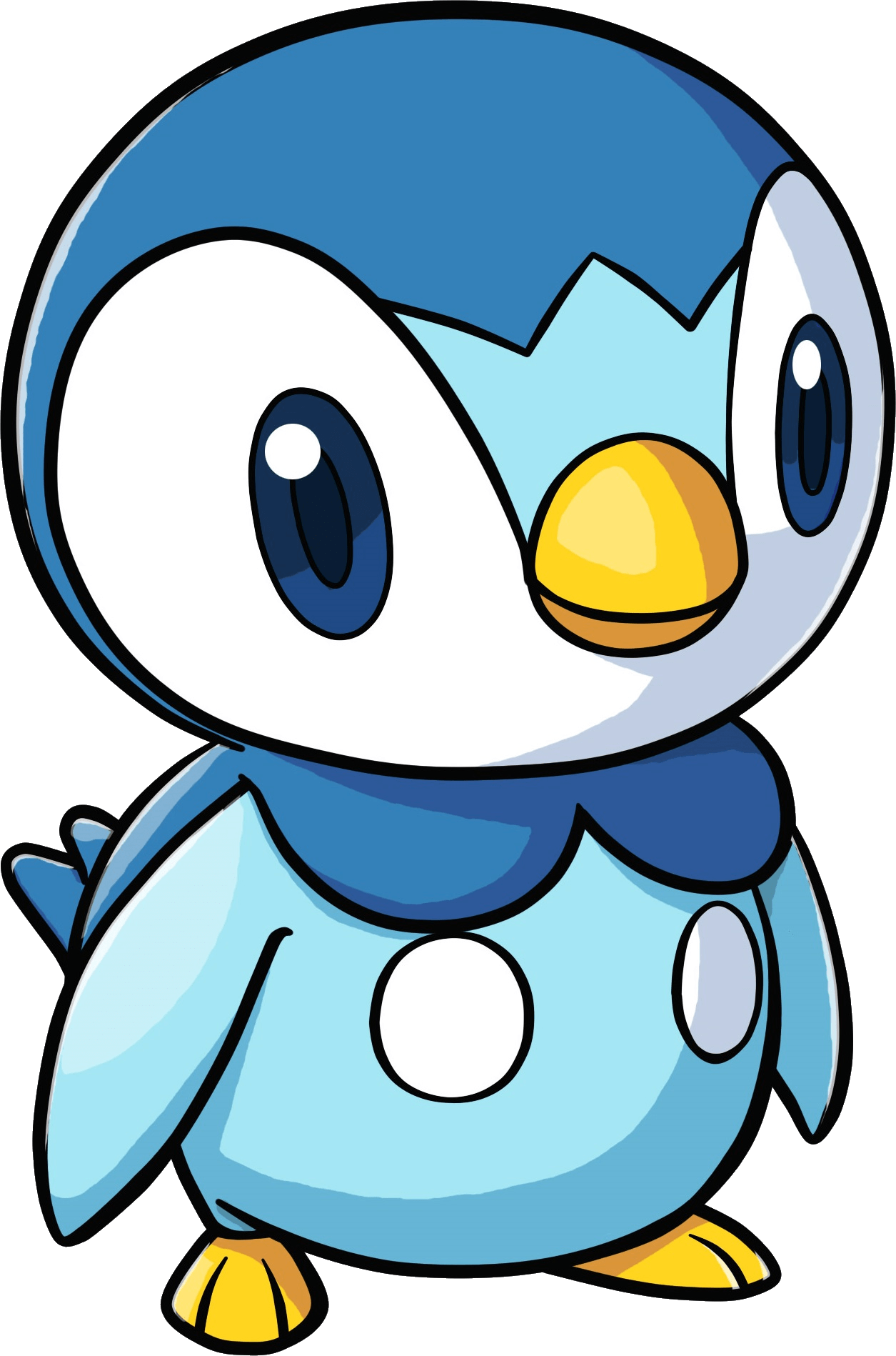 1255x1898 Piplup Pokemon Transparent Png