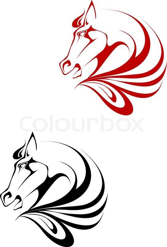 543x800 Tribal Clipart Horse Symbol