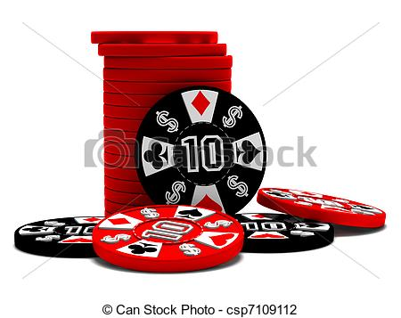 450x357 A Stack Of Black And Red Poker Chips Clip Art