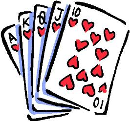 266x250 Poker Game Clipart