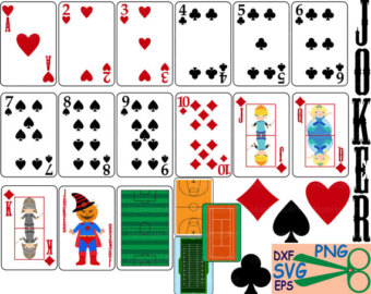 340x270 Poker Playing Cards Clip Art Suits Casino Games Cutting Svg