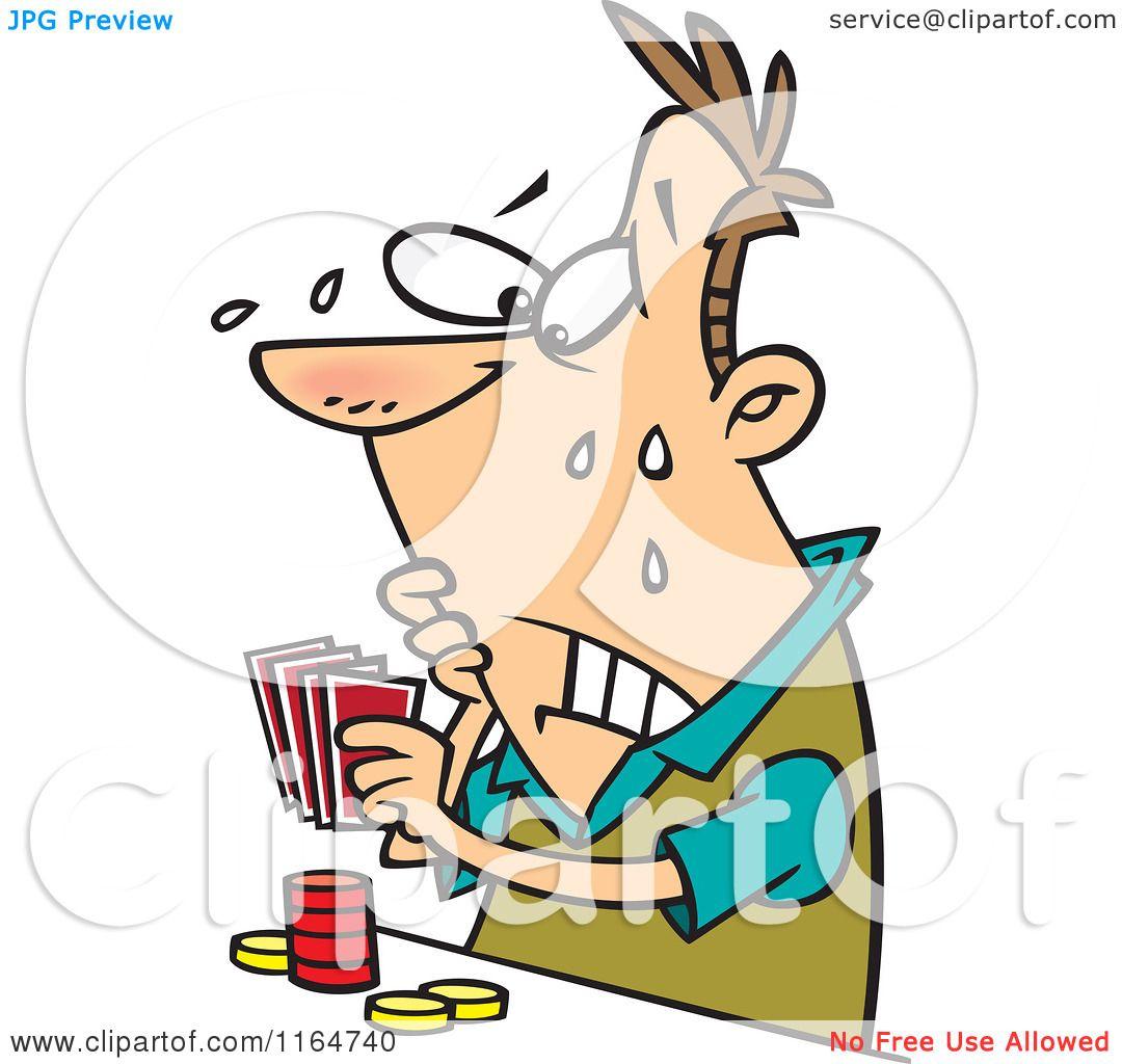 1080x1024 Cartoon Of A Flushed Man Playing Poker