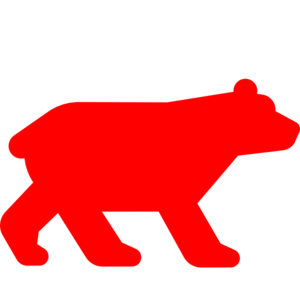 300x297 Bear Clipart Red