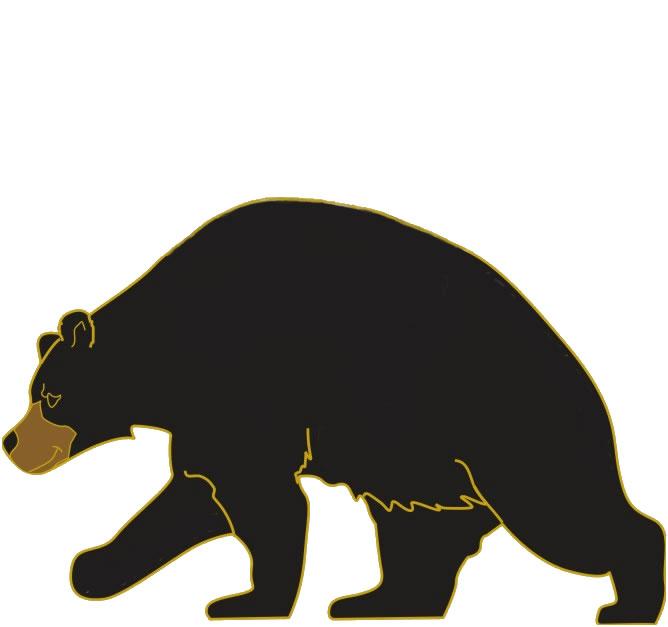 668x627 Black Bear Clipart
