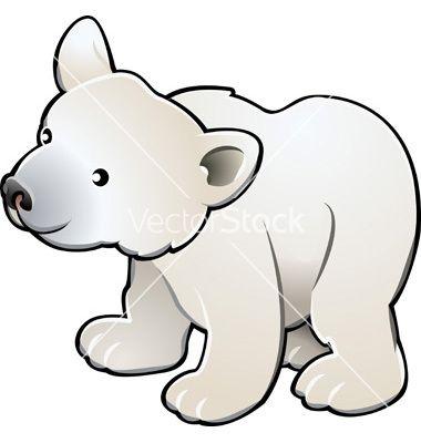 380x400 Polar Bear Vector 262699