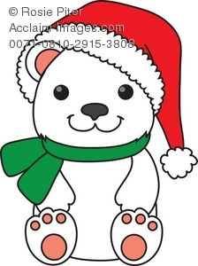 224x300 Bear Cub Clipart Cute Christmas Free Collection Download