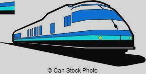300x154 Express Train Clipart