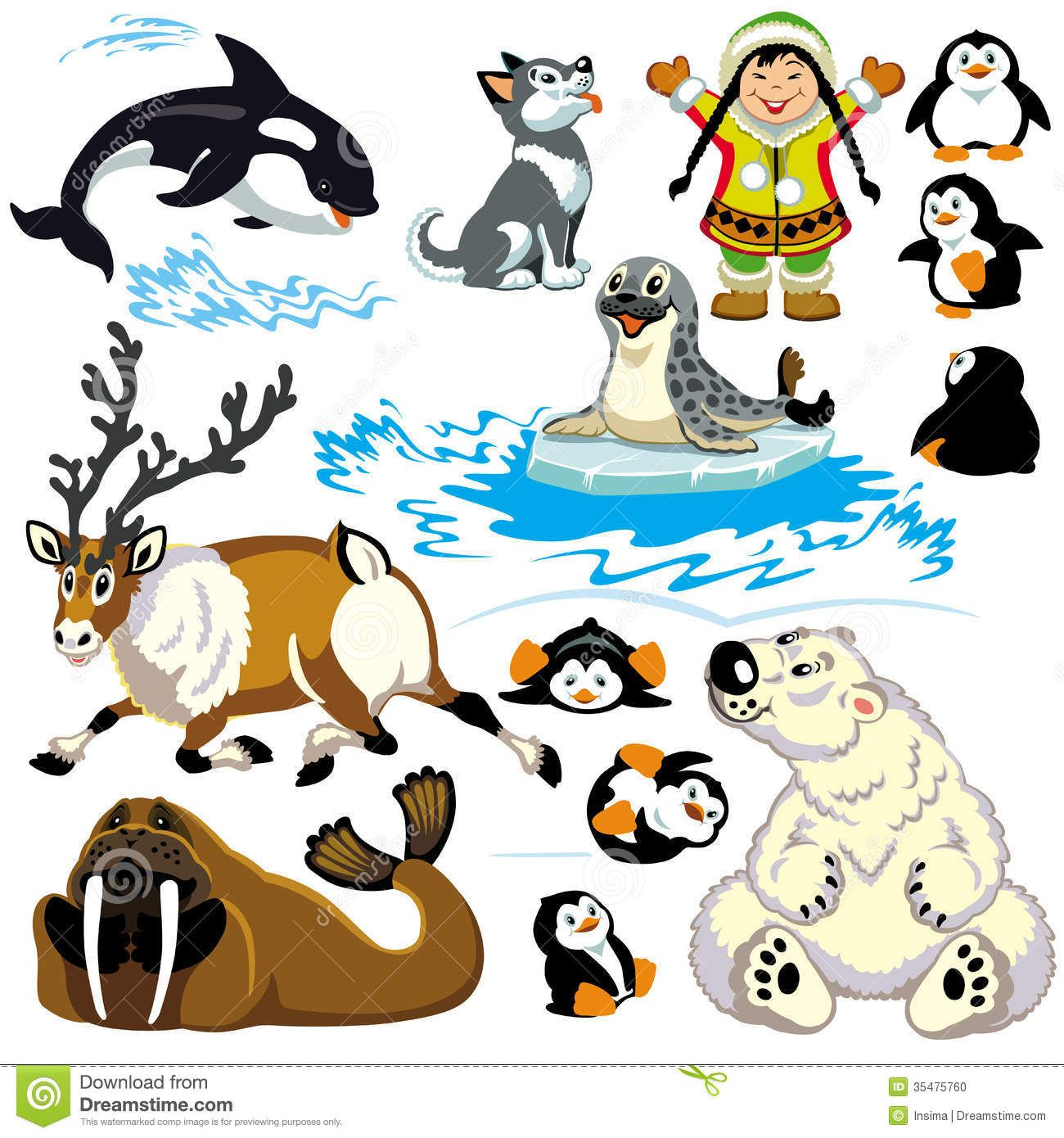 1300x1390 Polar Animals Clipart