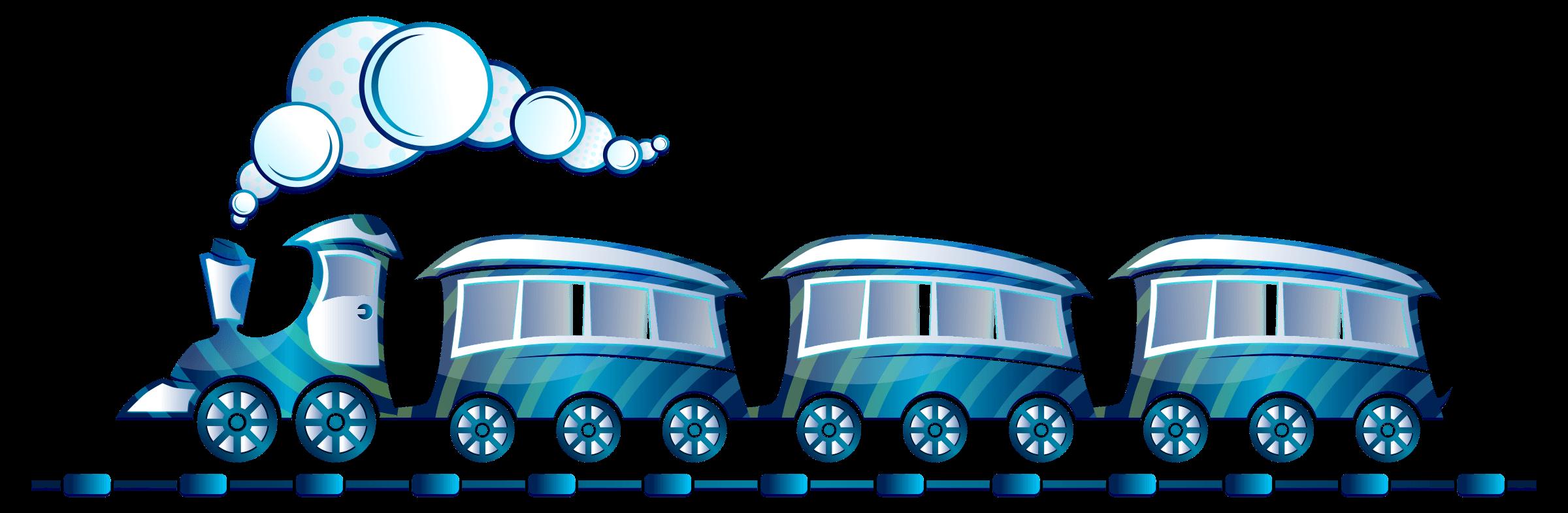 2400x785 Santa Train Cliparts