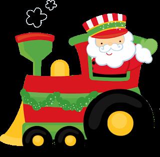 320x314 Christmas Santa Train Clip Art Clip Art