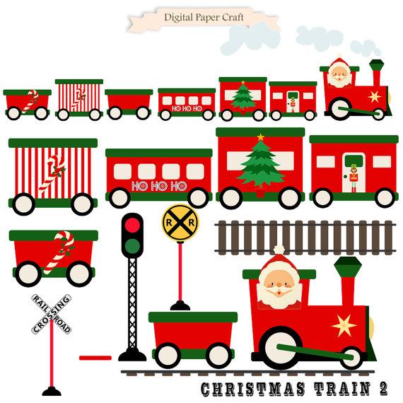 570x570 Christmas Train Train Clipart Christmas Clipart Instant
