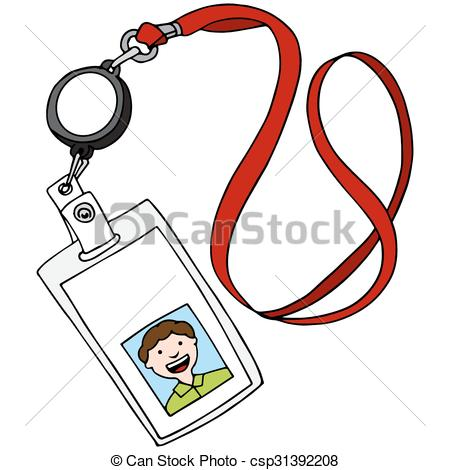 450x470 Id Badge Clipart