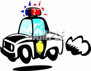 300x234 Lights On A Police Car Clipart Picture