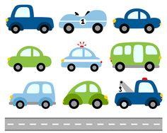 236x188 Cars Digital Clip Art, Transportation Clipart, Blue Green Vehicle