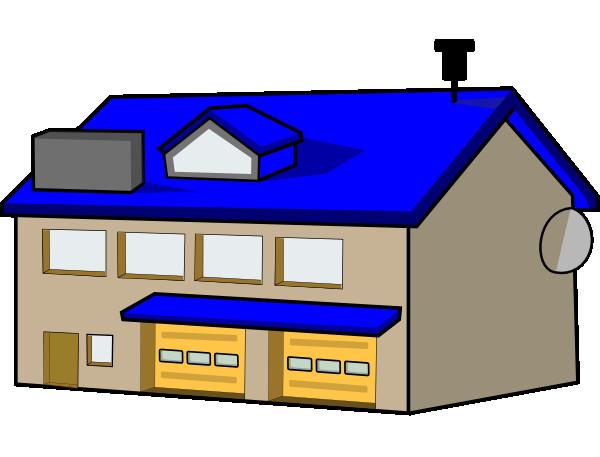 600x457 Free Clip Art Police Station Black White