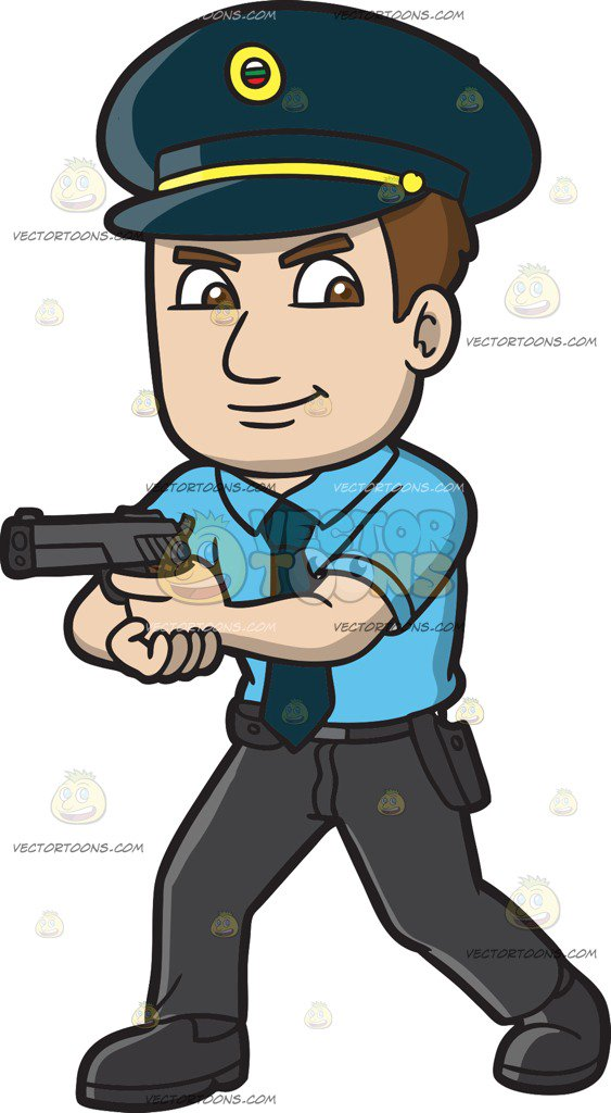 563x1024 A Hungarian Police Officer Cartoon Clipart Vector Toons