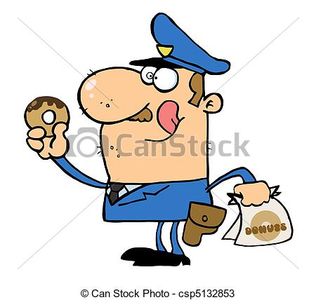 450x428 Police Officer Eating Donut Hungry White Cop Licking His