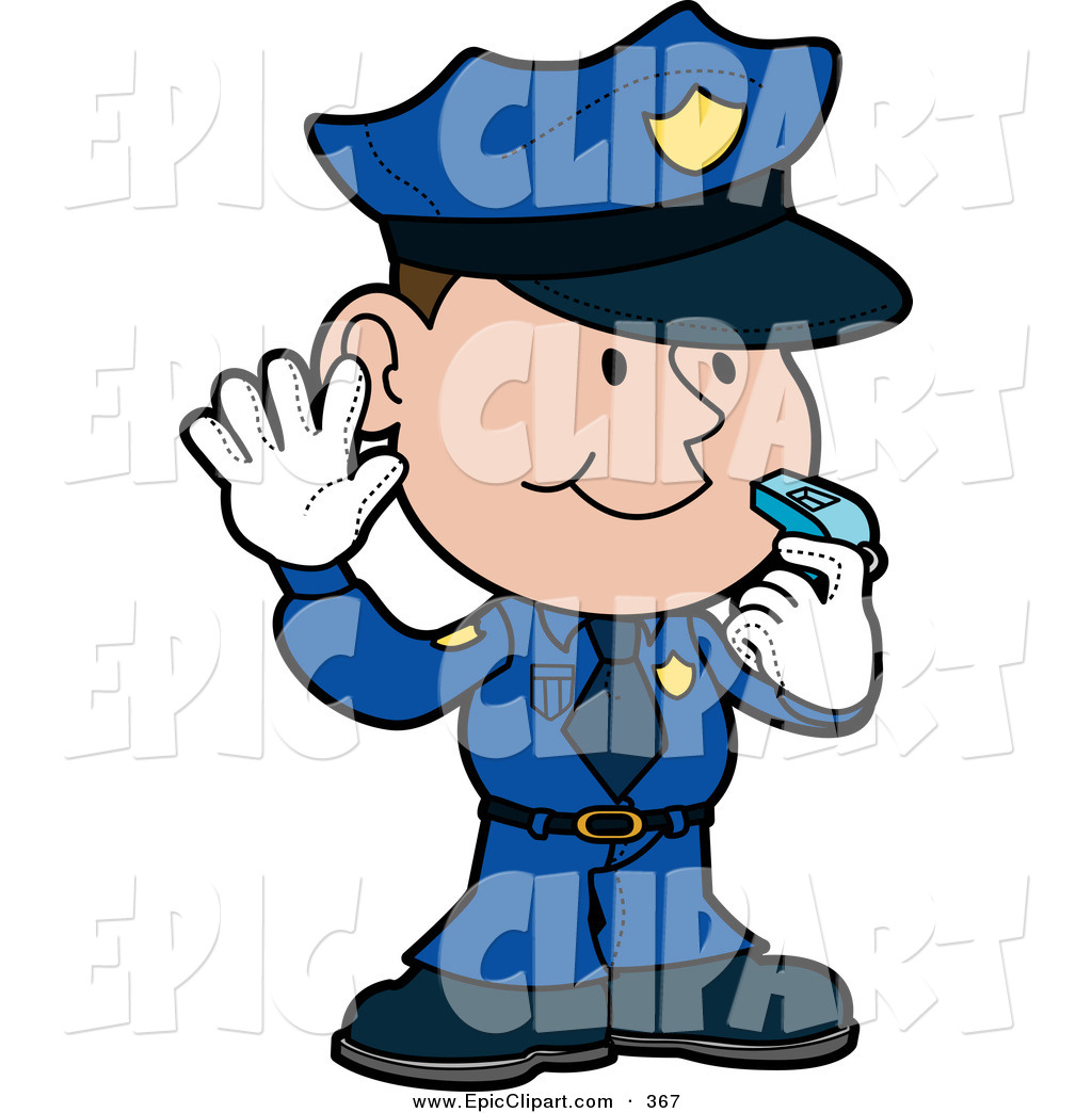 1024x1044 Vector Cliprt Of Friendly Male Caucasian Police Officer In