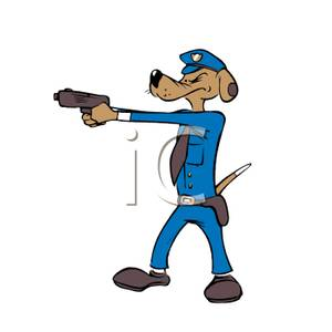 300x300 A Police Dog With His Gun Drawn