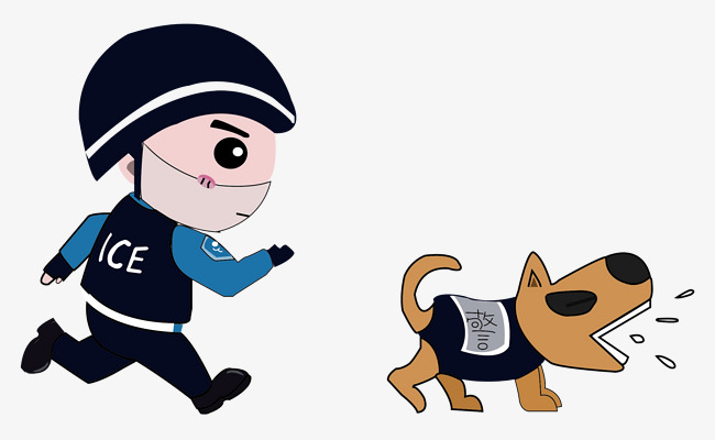 650x400 Q Version Of Special Police And Police Dogs, Police Dog, Special