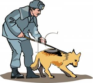 300x269 A Policeman With A Police Dog