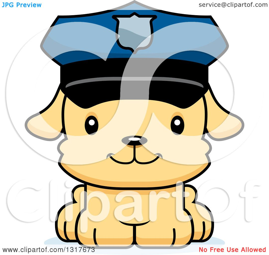 1080x1024 Animal Clipart Of A Cartoon Cute Happy Puppy Dog Police Officer