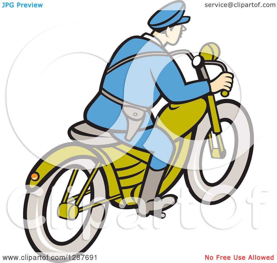 1080x1024 Clipart Of A Rear Side View Of A Cartoon Highway Patrol Police Man