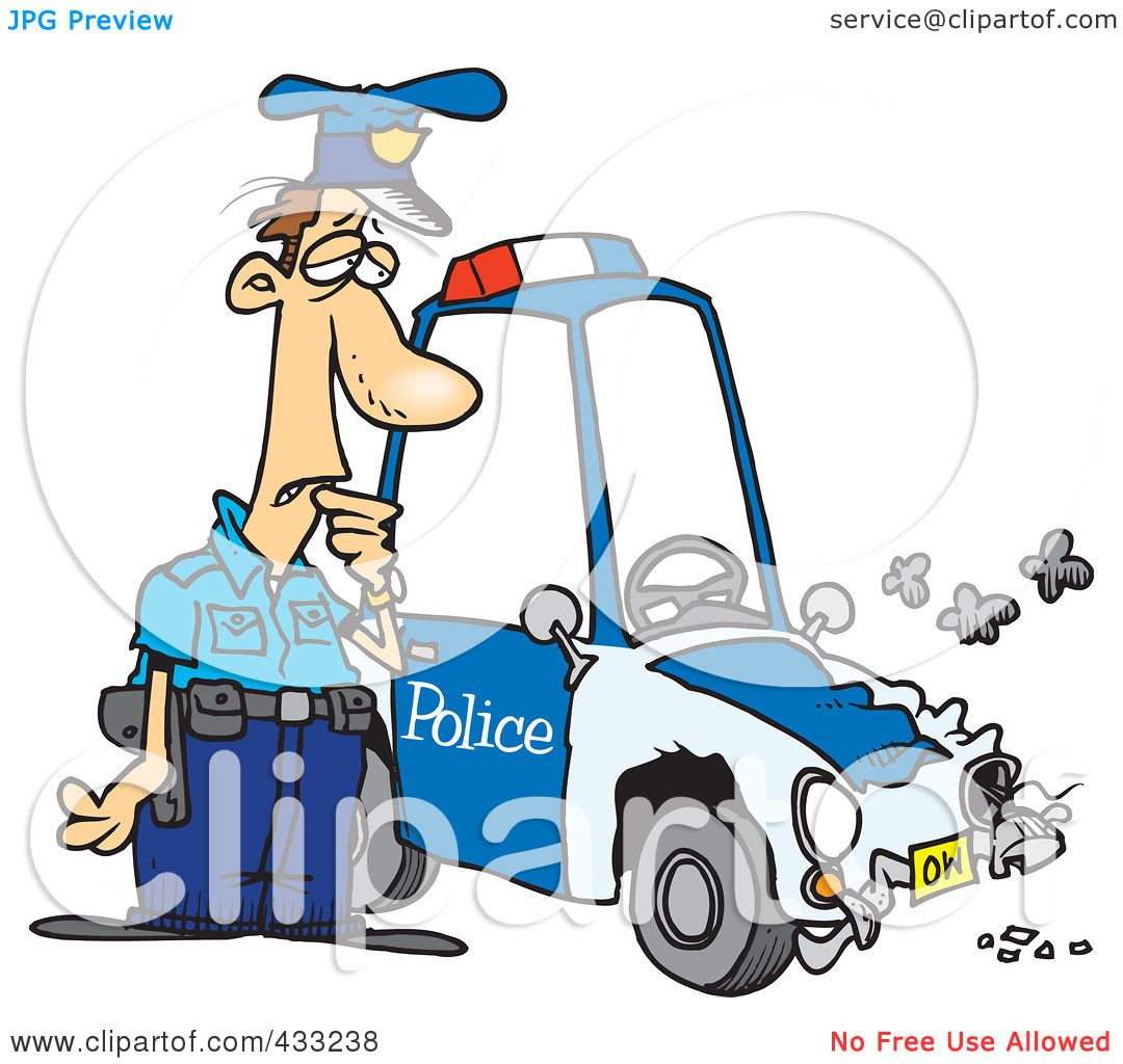 1080x1024 Royalty Free (Rf) Clipart Illustration Of A Patrol Officer Staring