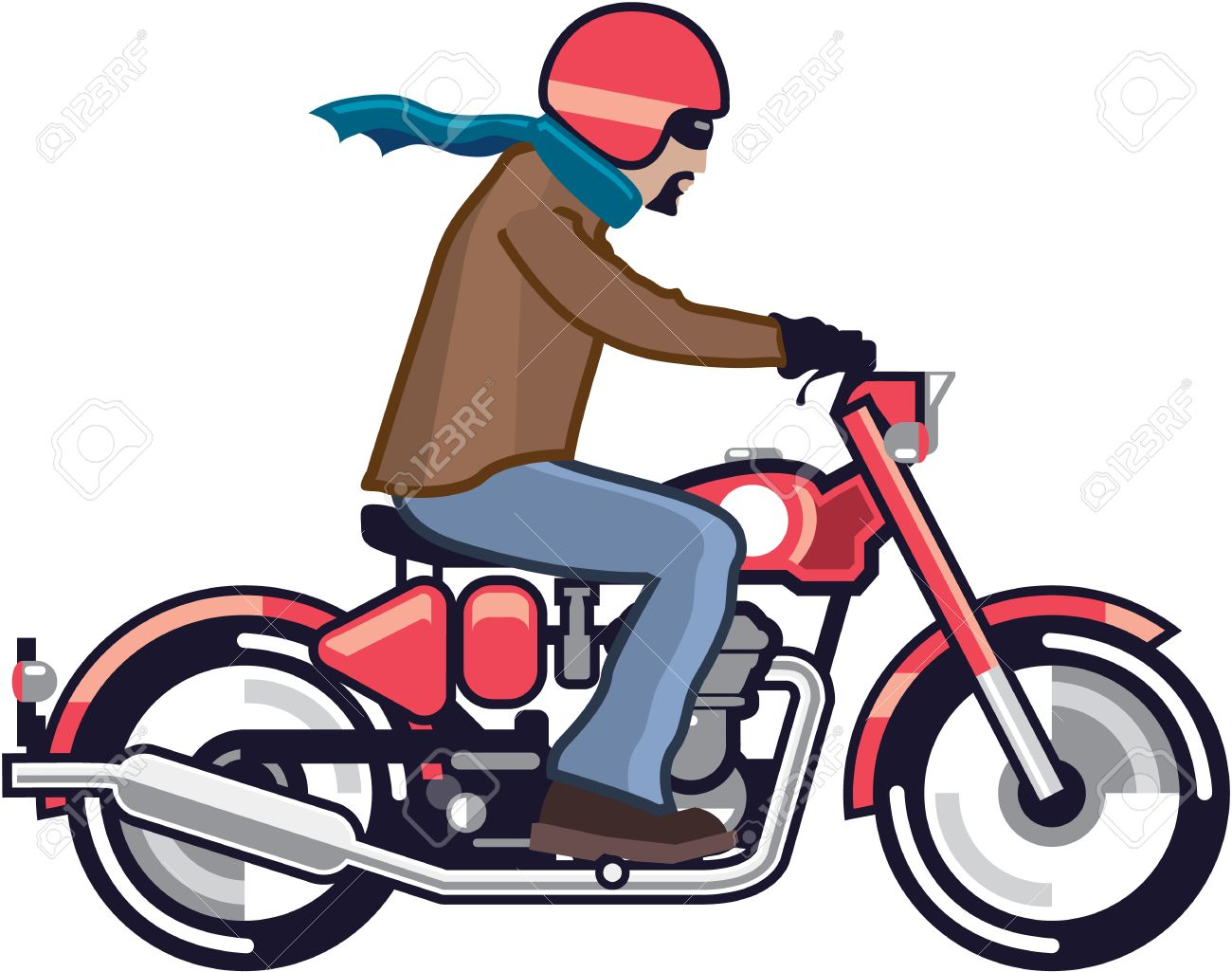 1300x1025 Sweet Design Clipart Motorcycle Dude On The Vintage Vector