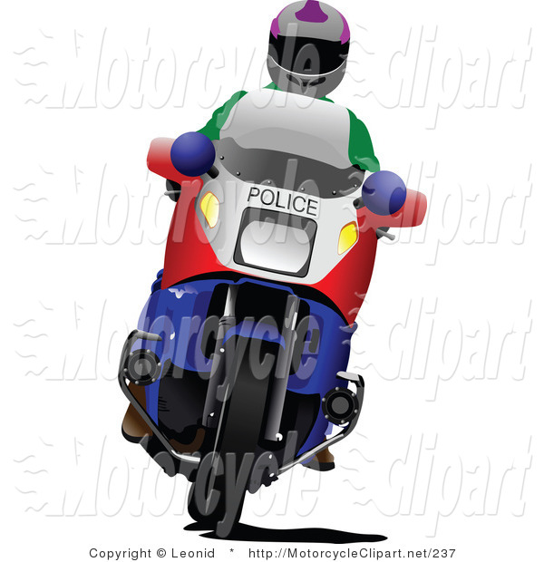 600x620 Transportation Clipart Of A Motorcycle Police Man By Leonid