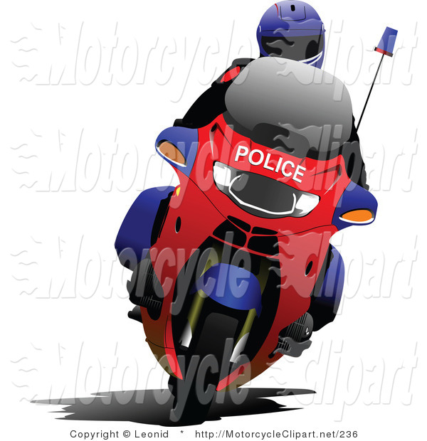 600x620 Transportation Clipart Of A Motorcycle Police Officer By Leonid