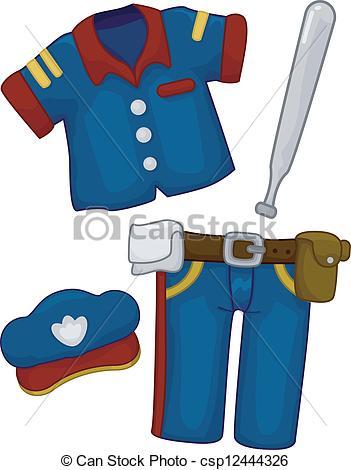 351x470 Police Uniform Clipart