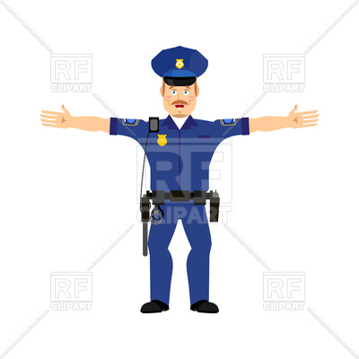 400x400 Police Officer Happy Emoji Isolated Royalty Free Vector Clip Art