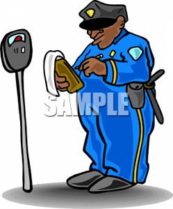 249x300 A Police Officer Writing A Parking Ticket Clipart Picture