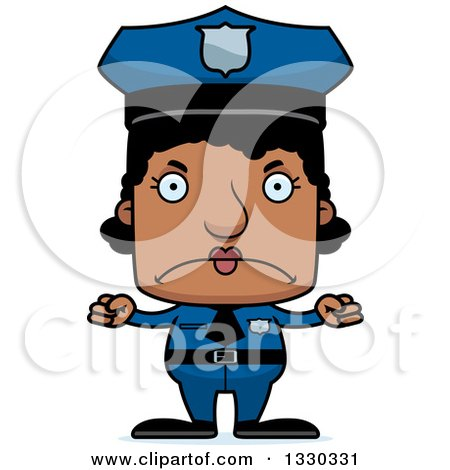 450x470 Clipart Happy Red Haired Police Girl