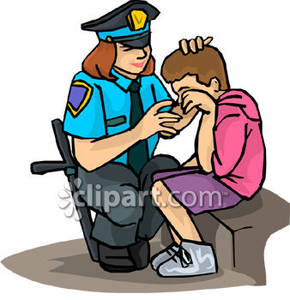 290x300 Female Police Officer Helping A Lost Boy