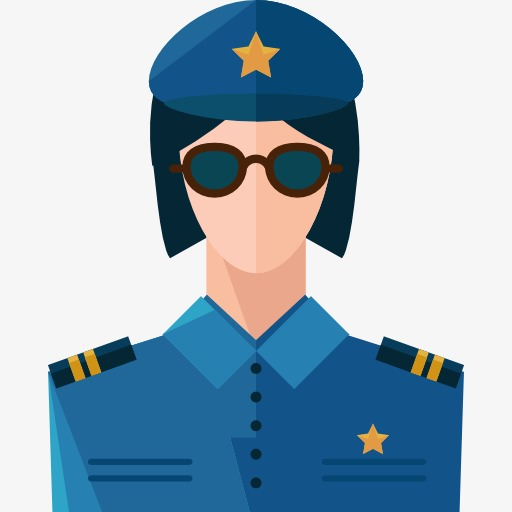 512x512 Policewoman Wearing Glasses, Policewoman, Cartoon, Policemen Png