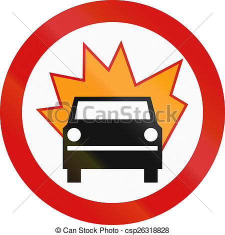 450x470 No Flammable Goods In Poland. Polish Traffic Sign Clip Art
