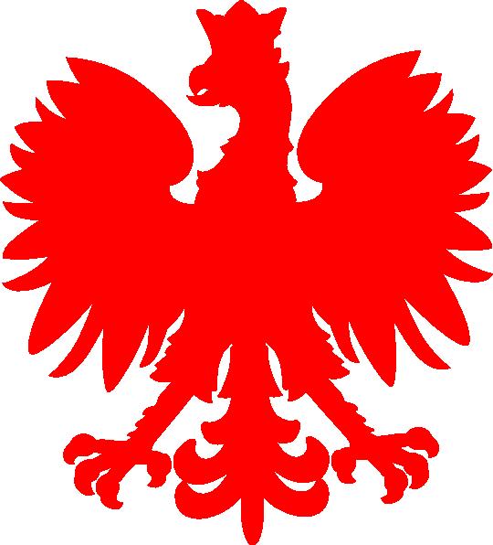 540x596 Red Polish Falcon Clip Art