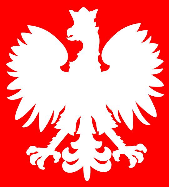 540x598 White Polish Eagle Clip Art
