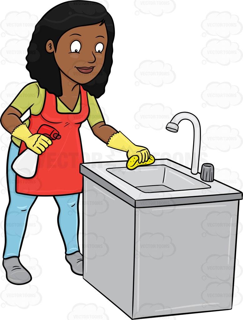 778x1024 Clean Sink Clip Art