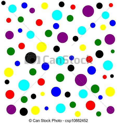 450x470 Colored Dots Clipart