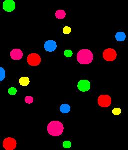 255x299 Light Blue Polka Dots Clip Art