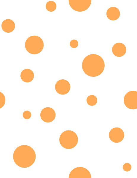 462x599 Orange Polka Dots Clip Art
