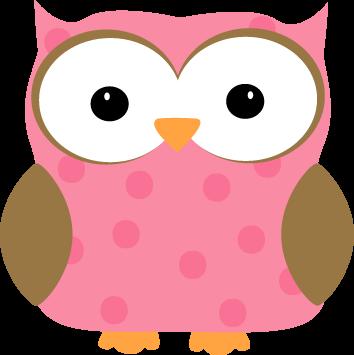 354x355 Pink Polka Dot Owl Clip Art Clipart Panda
