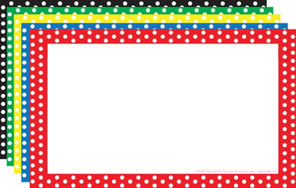 941x600 Polka Dot Border Clip Art